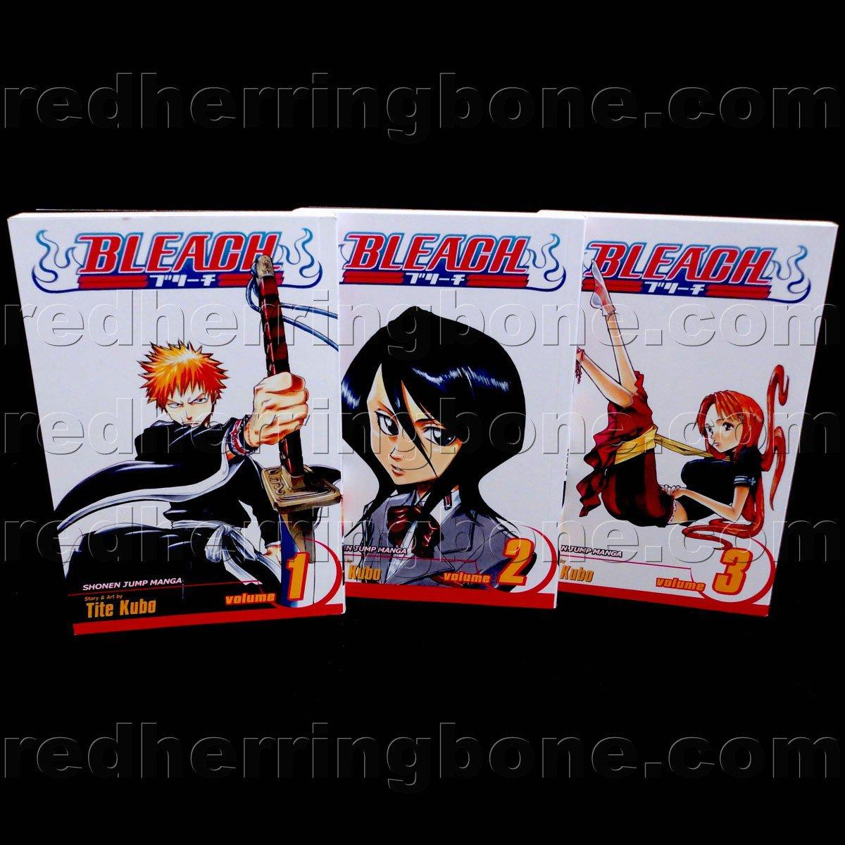 Bleach, Vol. 1-3 Manga (set includes Volume 1, 2 & 3) Tite Kubo NEW
