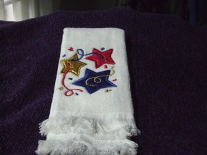 White Americana Hand/Dish Towel