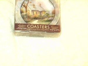 Thomas Kinkade Stoneware Coasters NEW