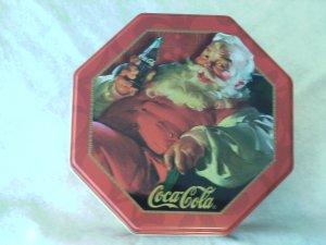 Coke And Santa Tin  NEW