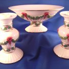 3 Pc. International Silver Co. Ceramic Christmas Set