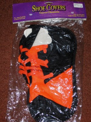 Halloween Costume Orange and Black Shoe Covers by Paper Magic Group