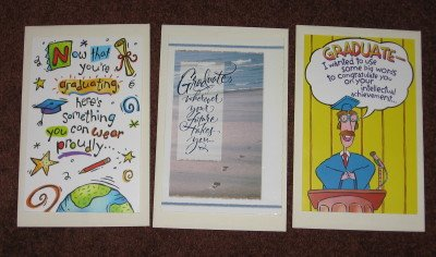 Graduation Cards by American Greetings Lot of 3 Three Different Card Designs with Envelopes