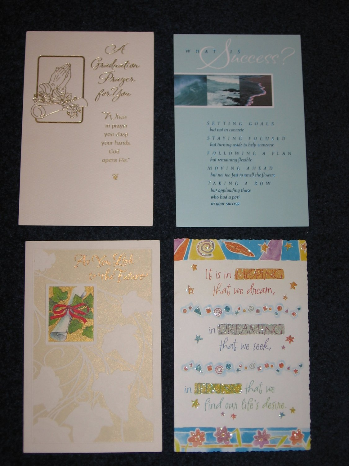 Graduation Cards by American Greetings Lot of 4 Four Different Card Designs with Envelopes
