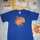 Volunteer Party Activity Kit T-Shirt Kids Care Clubs and Quaker Promotional Item – NEW