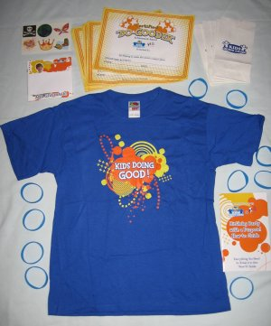 Volunteer Party Activity Kit T-Shirt Kids Care Clubs and Quaker Promotional Item � NEW