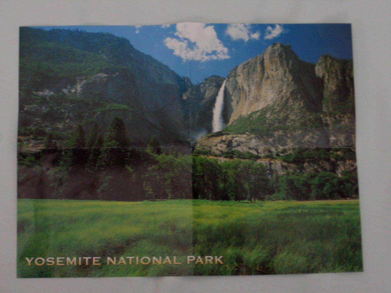 YOSEMITE NATIONAL PARK Poster Print featuring Yosemite Falls 9x12 Wall Art