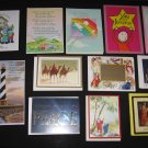 Birthday Christmas Friendship Sympathy Congratulations Thinking of You CARDS Lot of 13