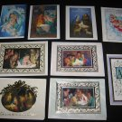The Passionist Missionaries CHRISTMAS EASTER CARDS Lot of 9 with Envelopes