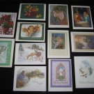 CHRISTMAS CARDS Set of 12 Assorted Religious & Non-Religious with Envelopes