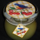 BIRD SONG Glass Jar Scented Candle  NEW