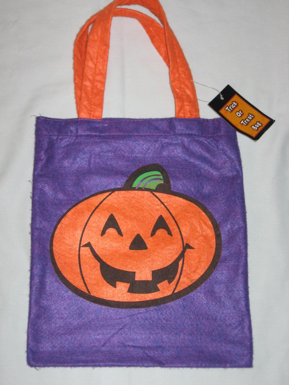 Halloween Pumpkin Jack O Lantern TRICK OR TREAT BAG Sack � NEW
