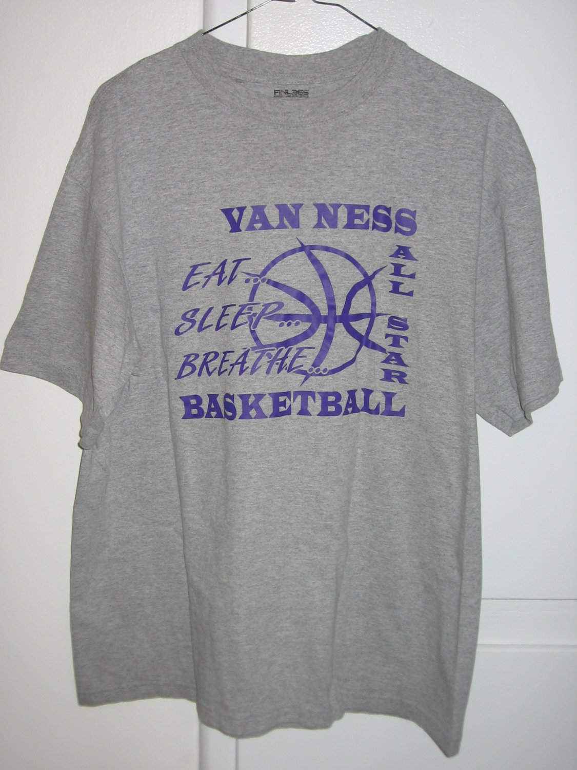 Van Ness All Star Basketball T-Shirt Size Large L FINL365 Finish Line Athletics