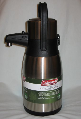 coleman stainless steel airpot 2 5 liter thermos c01a153 brand new. Black Bedroom Furniture Sets. Home Design Ideas