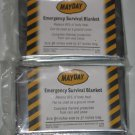 Lot of 2 Mayday Emergency Survival Blankets 52x84 NEW