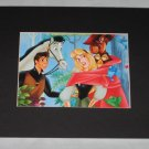 SLEEPING BEAUTY and PRINCE PHILLIP with Samson the Horse 8 X 10 Mat Art Print NEW