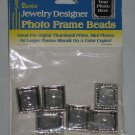 Jewelry Designer Antique Silver Photo Frame Beads by Darice Pack of 6 NEW