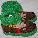 Garnet Hill Reindeer Wool Slippers Toddler Size 4 Made in Poland