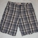 Merona Blue Plaid Casual Bermuda Shorts Mens Size 30