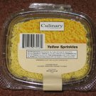 YELLOW SPRINKLES Jimmies Edible Cookie Cake Decorations 3.2 oz by Culinary Creations