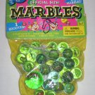 30 Marbles Official Size plus Shooter Green Cat Eyes Swirls by FunTastic Classics NEW in BAG