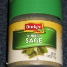 Rubbed SAGE Spice by Durkee 0.45 oz. Jar for Poultry Turkey Stuffing Pork Duck Goose Sausage