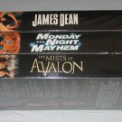 Lot of 3 TNT Emmy Consideration VHS James Dean Monday Night Mayhem Mists of Avalon NEW