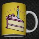 Teleflora Happy Birthday Cake with Candle Coffee Mug Cup NEW