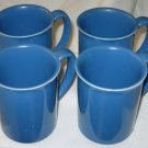 Set of 6 Corning Ware Country Violets Blue Coffee Mugs Cups