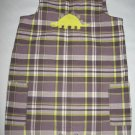Carters One Piece Plaid Jumper with Yellow Dinosaur Size 18 Months 18M