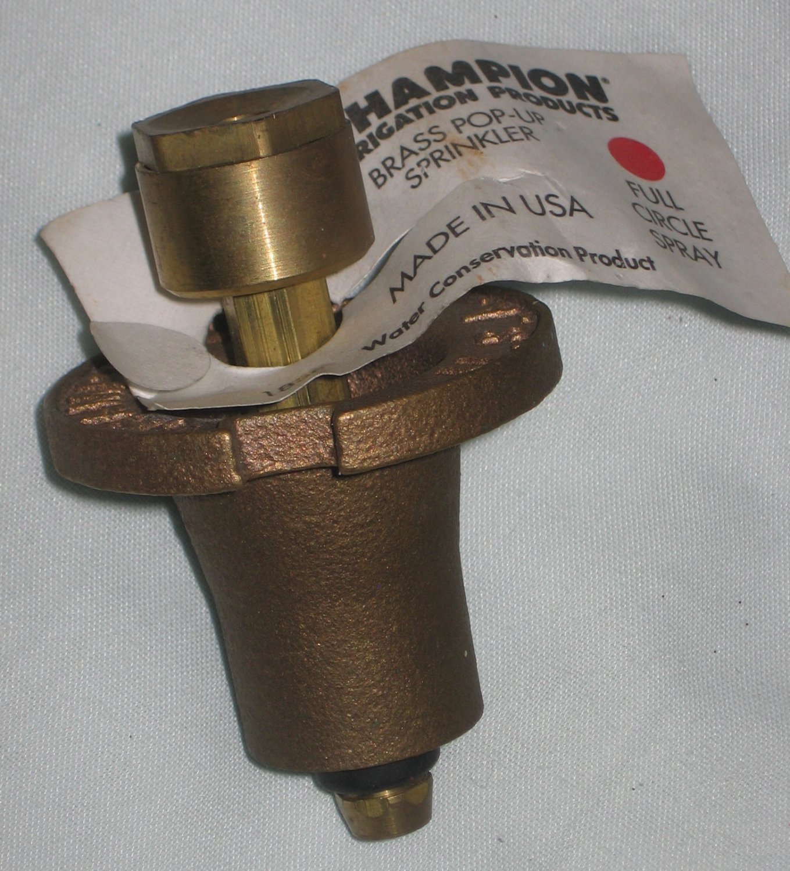 Champion Irrigation Brass Pop-Up Sprinkler 18SF Full Circle Spray NEW