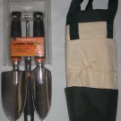 FISKARS 3-Piece Garden Tool Set 7067 PLUS Canvas Carry Tote Bag with Pouches NEW