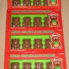 Milk Chocolate Santa Bears for Christmas Holiday Lot of 4 Boxes