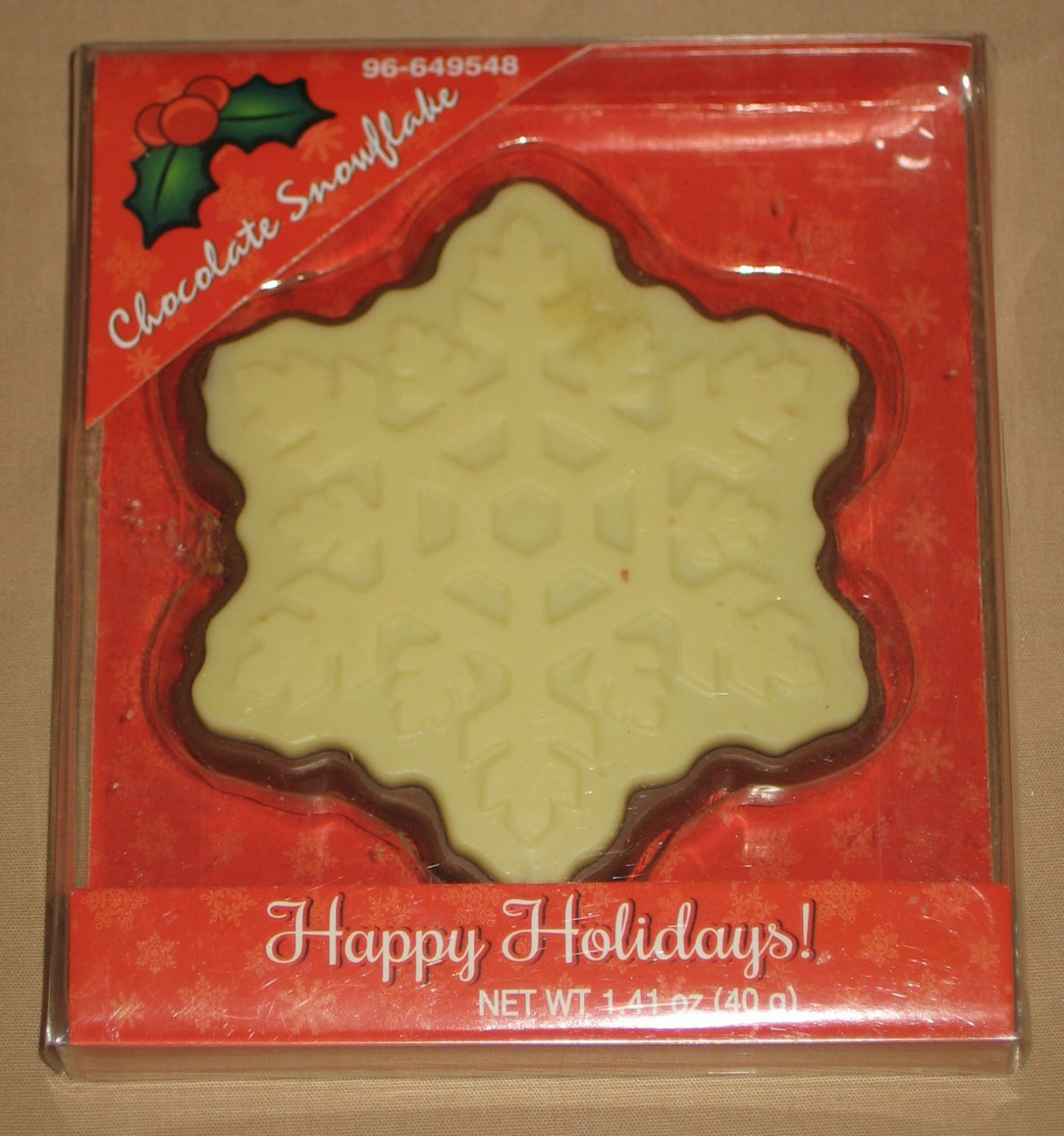 Chocolate Snowflake Candy in Sealed Holiday Package