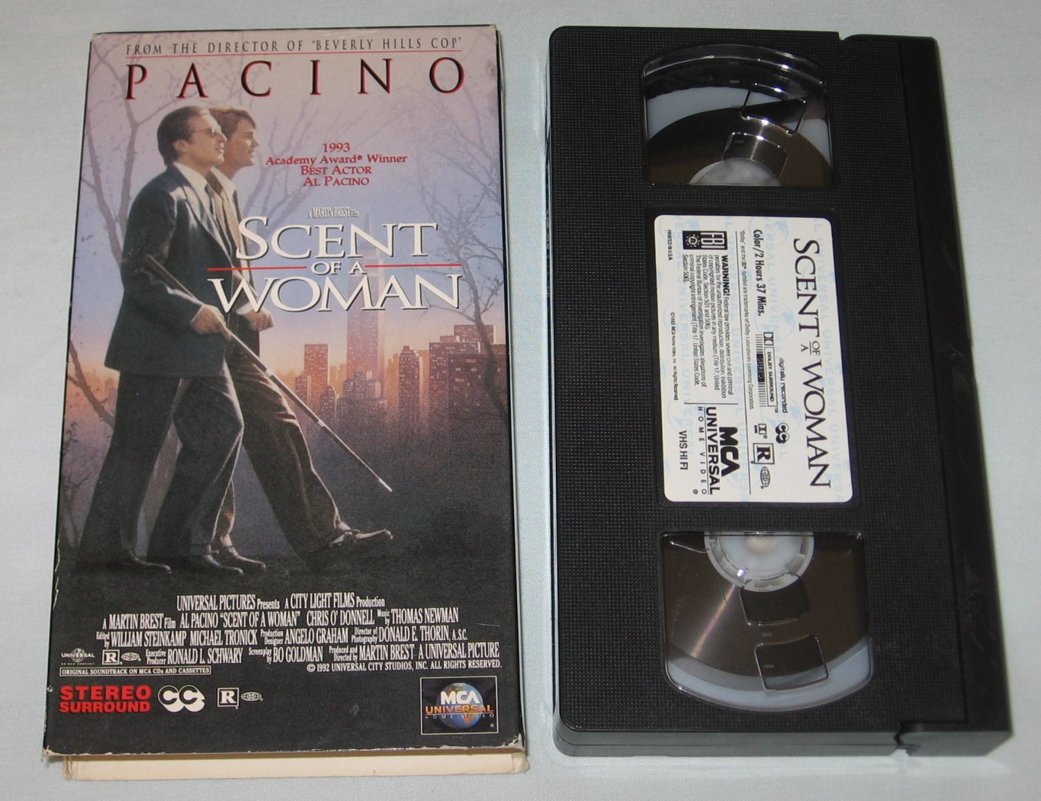 Scent of a Woman (VHS, 1993) Al Pacino, Chris O'Donnell, Gabrielle Anwar