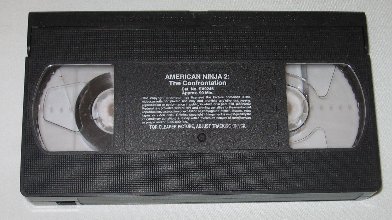American Ninja 2 The Confrontation (VHS, 1990) starring Michael Dudikoff