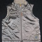 The Kids Source TKS Snowflake Fleece Winter Vest Shiny Silver Size 12 Months