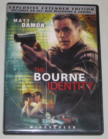 The Bourne Identity DVD The Explosive Extended Edition Widescreen Matt Damon Franka Potente