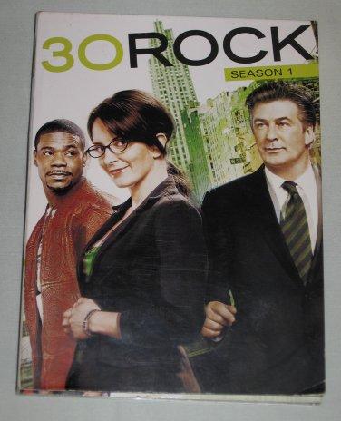 30 Rock Season 1 DVD 3-Disc Set Alec Baldwin, Tina Fey, Jane Krakowski, Tracy Morgan, Scott Adsit