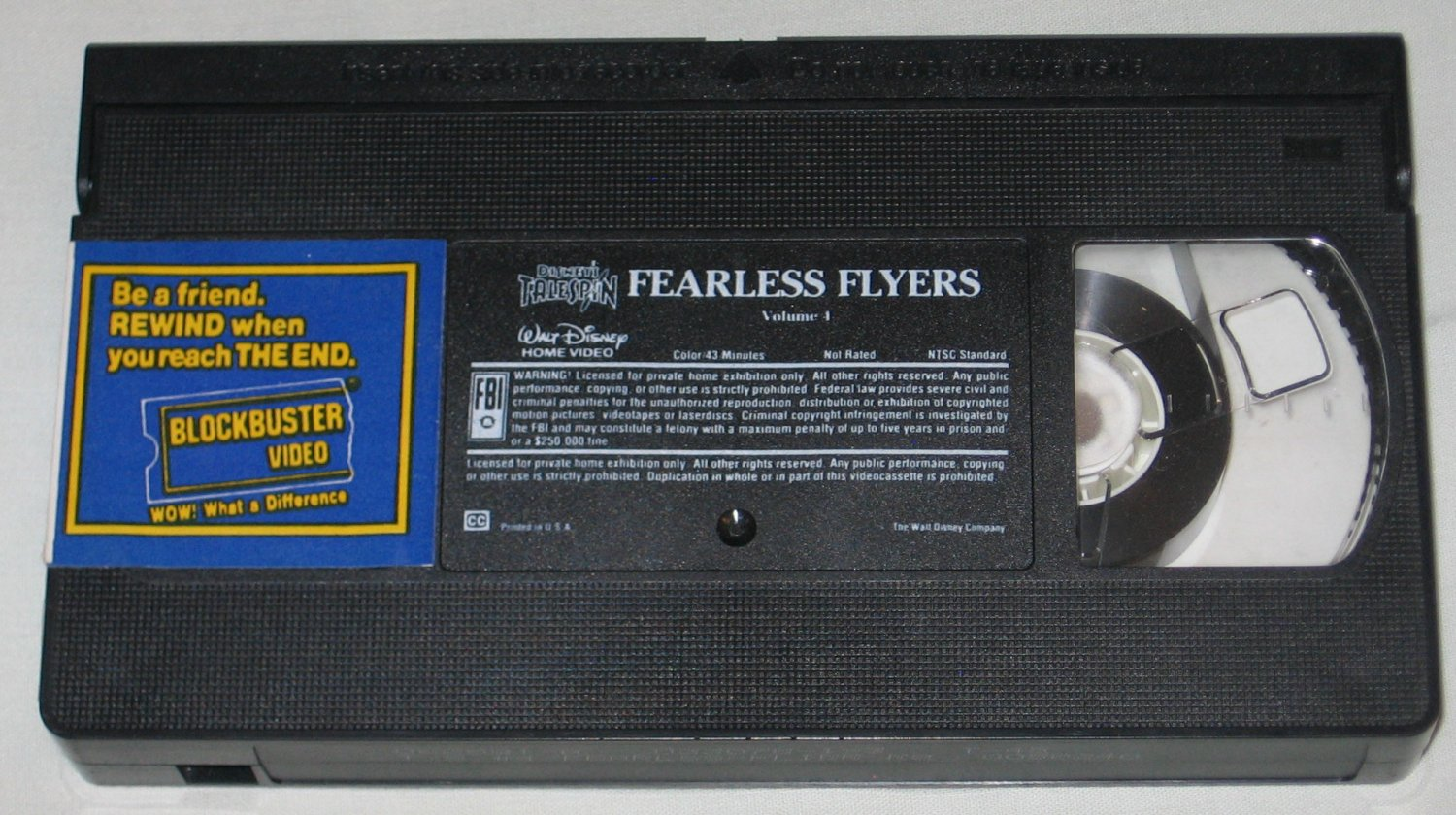 Disney�s Talespin Series Fearless Flyers Volume 4 (VHS, 1991)