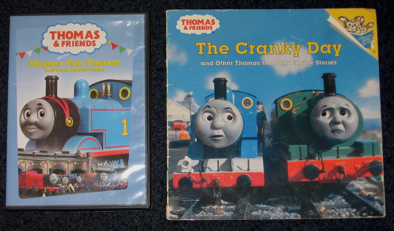 Thomas The Tank Engine Hooray for Thomas DVD & The Cranky Day Book