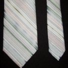 OLEG CASSINI by Burma Pastel Colors Diagonal Striped Mens Tie Necktie