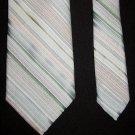 OLEG CASSINI by Burma Pastel Colors Diagonal Striped Mens Tie Necktie