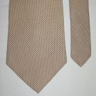 CLUB ROOM Mens Silk Brown Tan Tie Necktie Imported Fabric Made USA