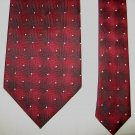 ZENIT Mens Tie Necktie Red Black Diamonds Design with White Dots 100% Polyester