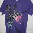 Stars with Paint Splatter Purple T-Shirt Womens Size Small S