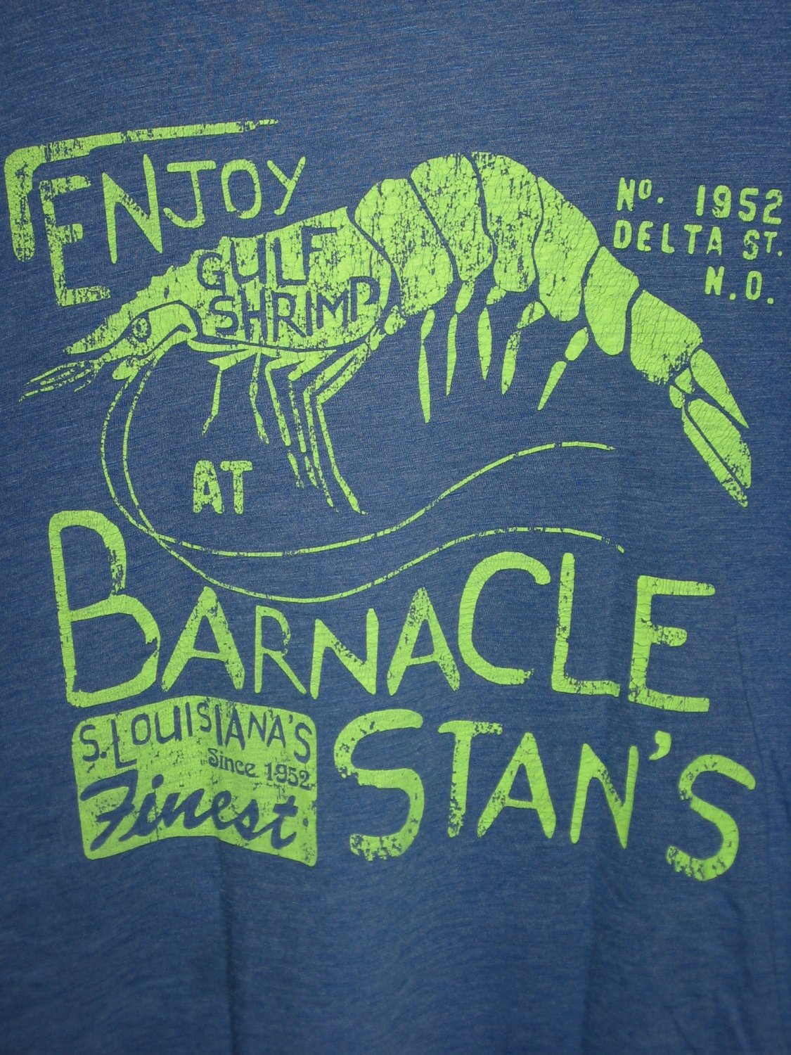 Barnacle Stans Gulf Shrimp Louisianas Finest Shirt Boys Size Large L by Cherokee