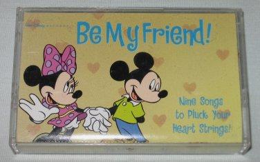 RARE Walt Disney BE MY FRIEND 1998 Cassette Mickey Minnie Mouse Songs