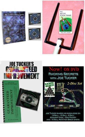 POOL/BILLIARDS JOE TUCKER'S INSTRUCTIONAL 4 PRODUCT SET