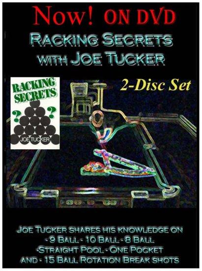 POOL/BILLIARDS RACKING SECRETS 2-DISC DVD/VIDEO SET